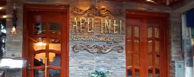 restaurante machu picchu pueblo